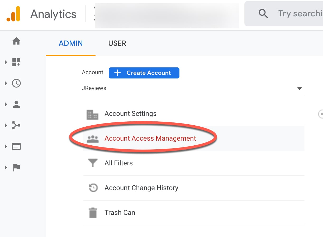Add Google Service Account as authorized user to your Google Analytics property