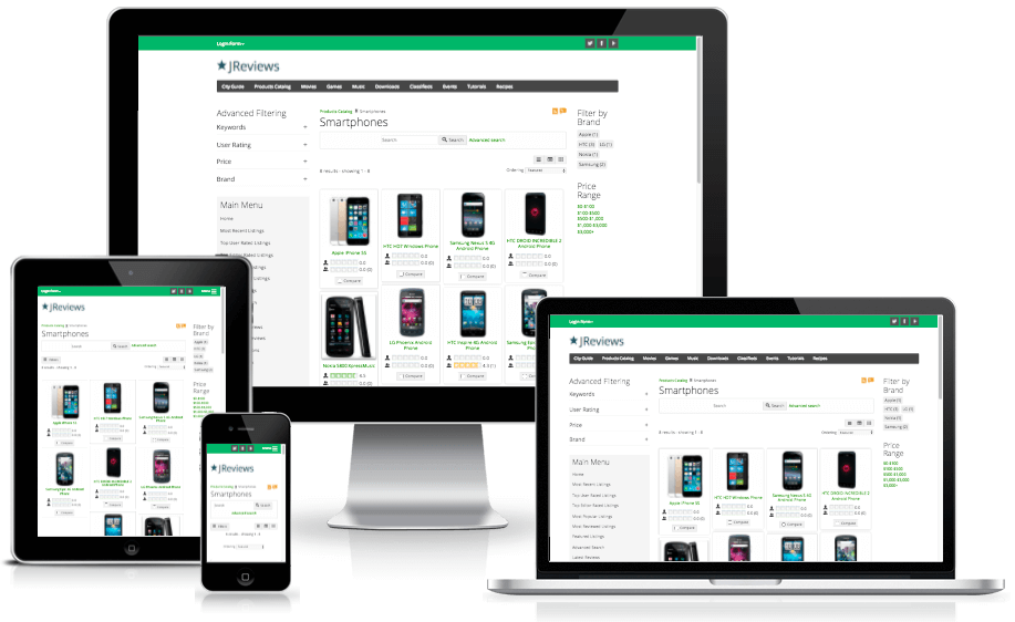 iReview Joomla template preview