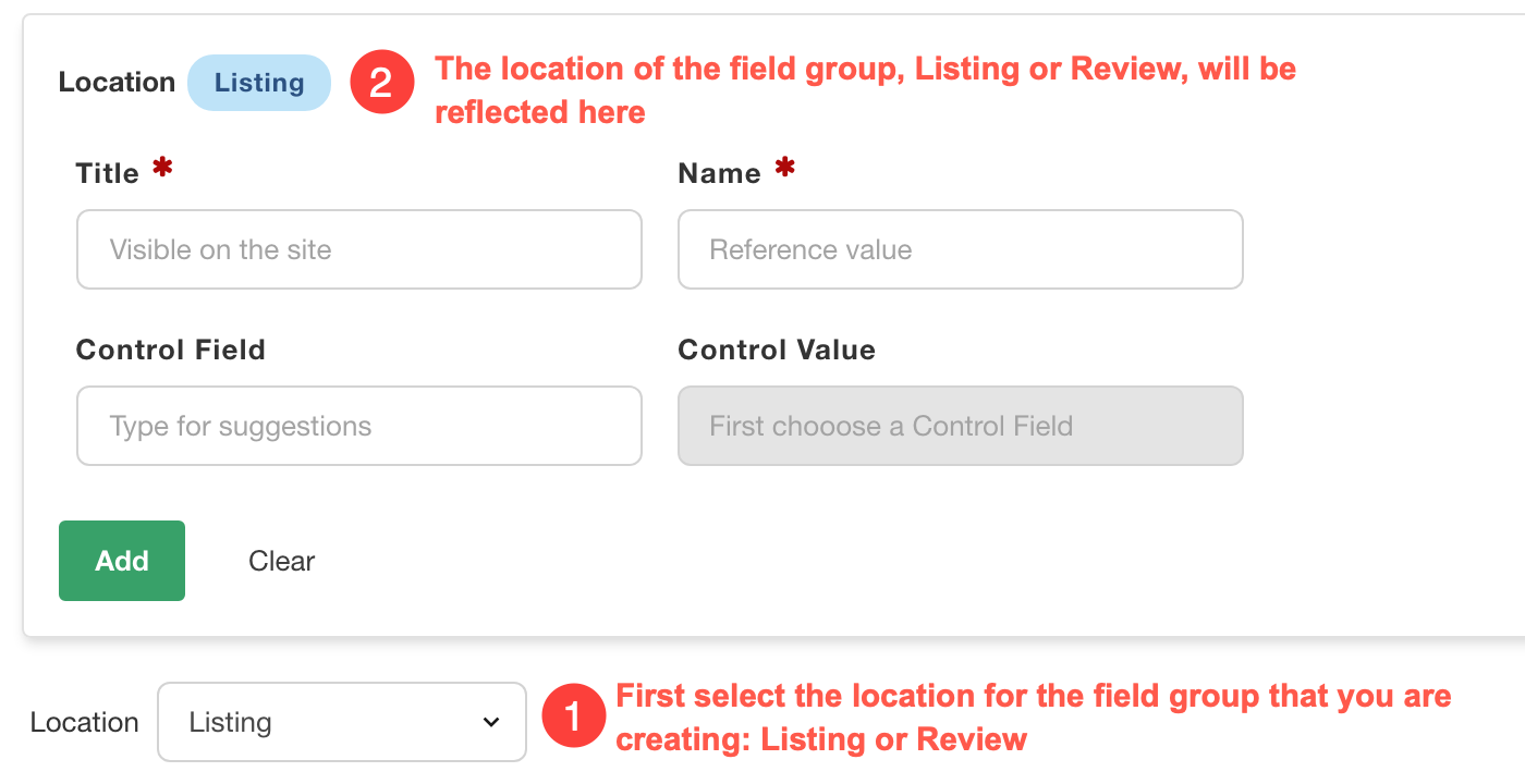 Creating field groups