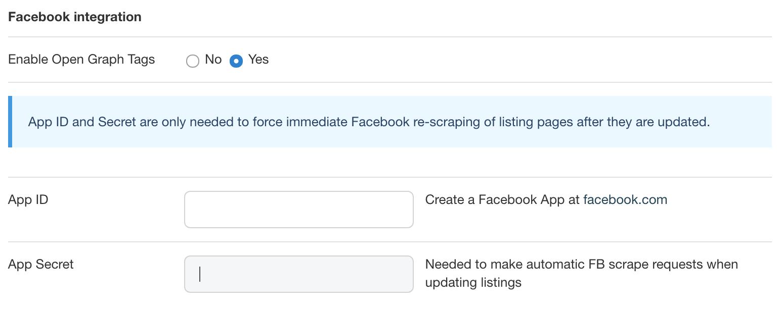 Enabling Facebook Open Graph