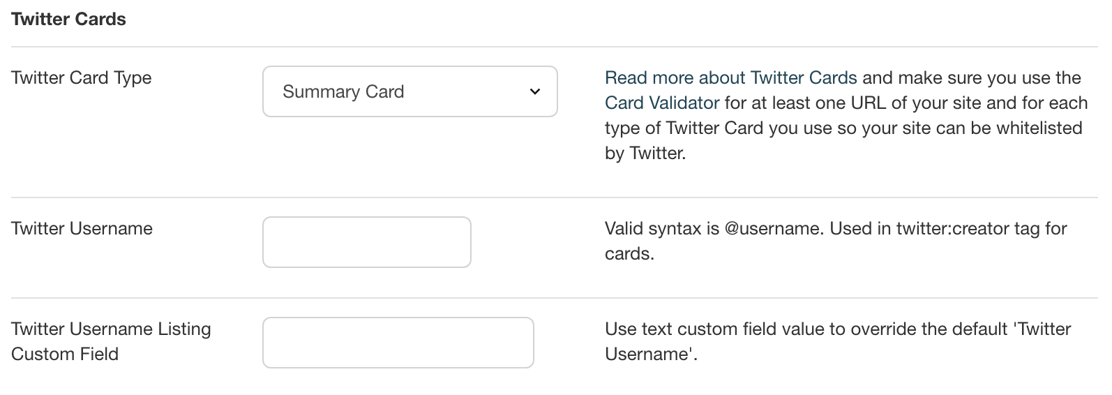 Setting up Twitter Cards