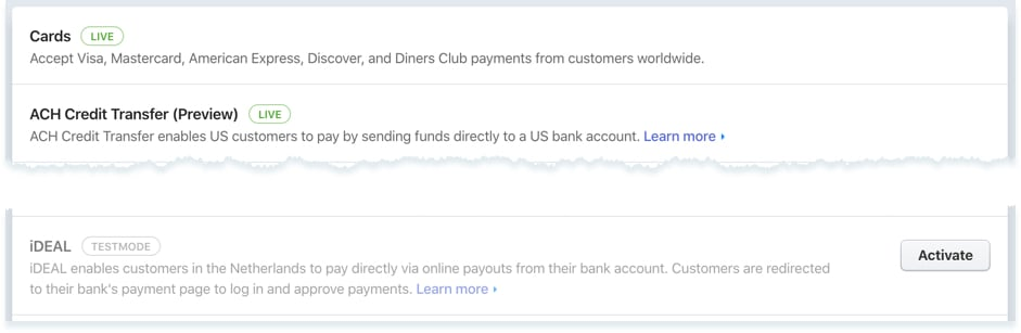 Stripe checkout iDEAL payments