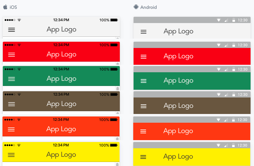 JReviews Mobile App color themes