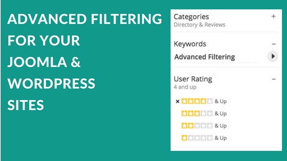 Advanced Filtering for Joomla and WordPress