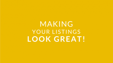 Intro #2 - Making your Listings Look Great